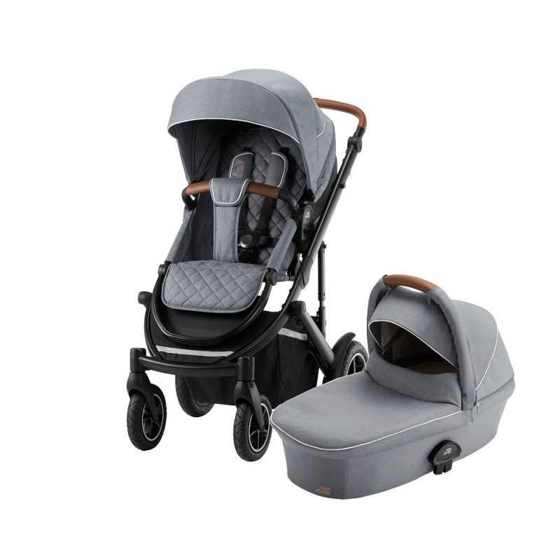 Paketti Britax Smile 3 Yhdistelmävaunu, Nordic Grey + Baby Safe iSENSE Nordic Grey Britax - 1