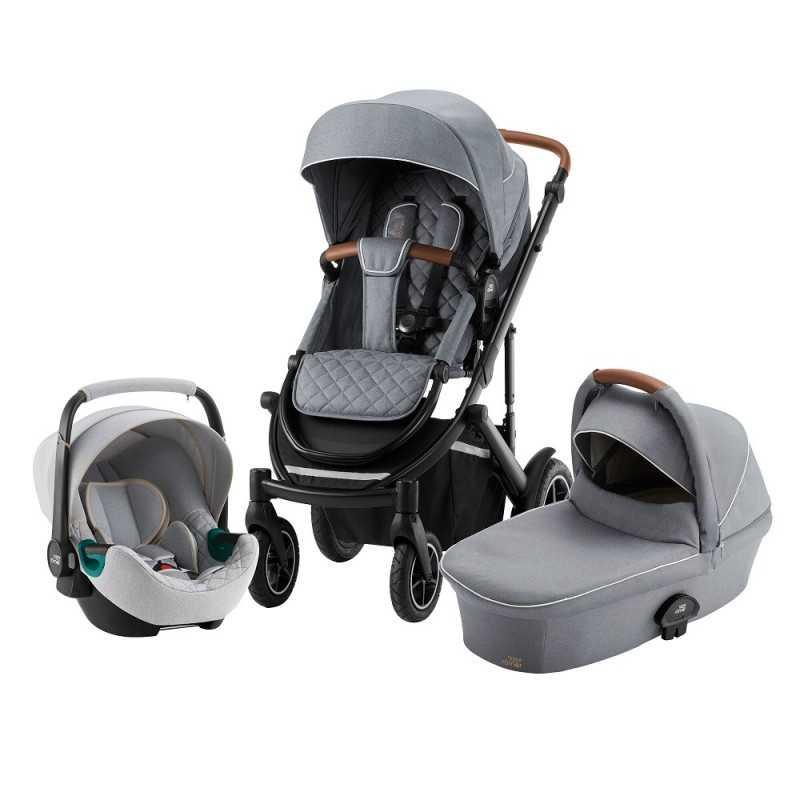Paketti Britax Smile 3 Yhdistelmävaunu, Nordic Grey + Baby Safe iSENSE Nordic Grey Britax - 8