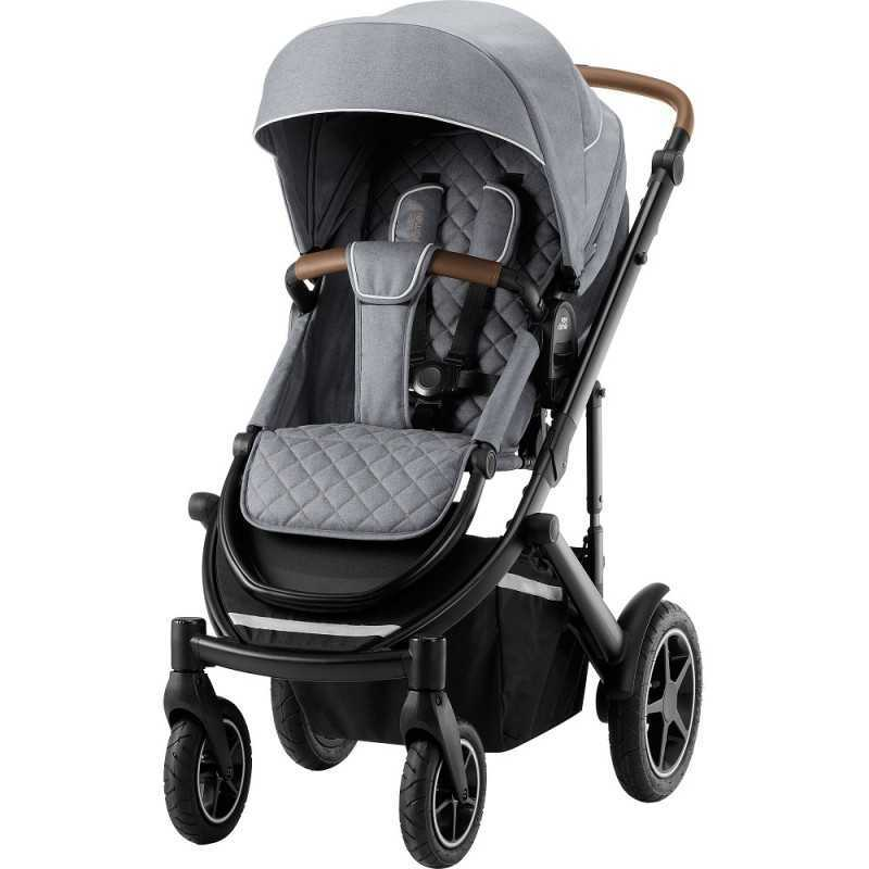Paketti Britax Smile 3 Yhdistelmävaunu, Nordic Grey + Baby Safe iSENSE Nordic Grey + iSENSE jalusta Britax - 1