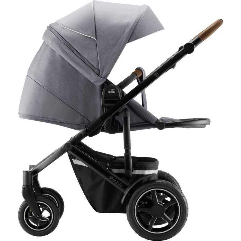 Paketti Britax Smile 3 Yhdistelmävaunu, Nordic Grey + Baby Safe iSENSE Nordic Grey + iSENSE jalusta Britax - 2