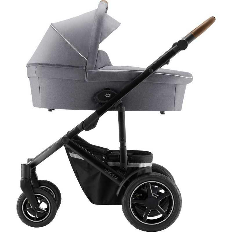 Paketti Britax Smile 3 Yhdistelmävaunu, Nordic Grey + Baby Safe iSENSE Nordic Grey + iSENSE jalusta Britax - 3
