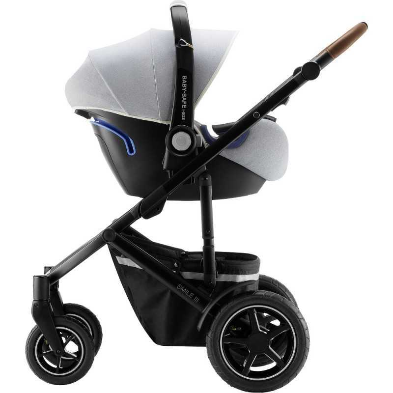 Paketti Britax Smile 3 Yhdistelmävaunu, Nordic Grey + Baby Safe iSENSE Nordic Grey + iSENSE jalusta Britax - 6