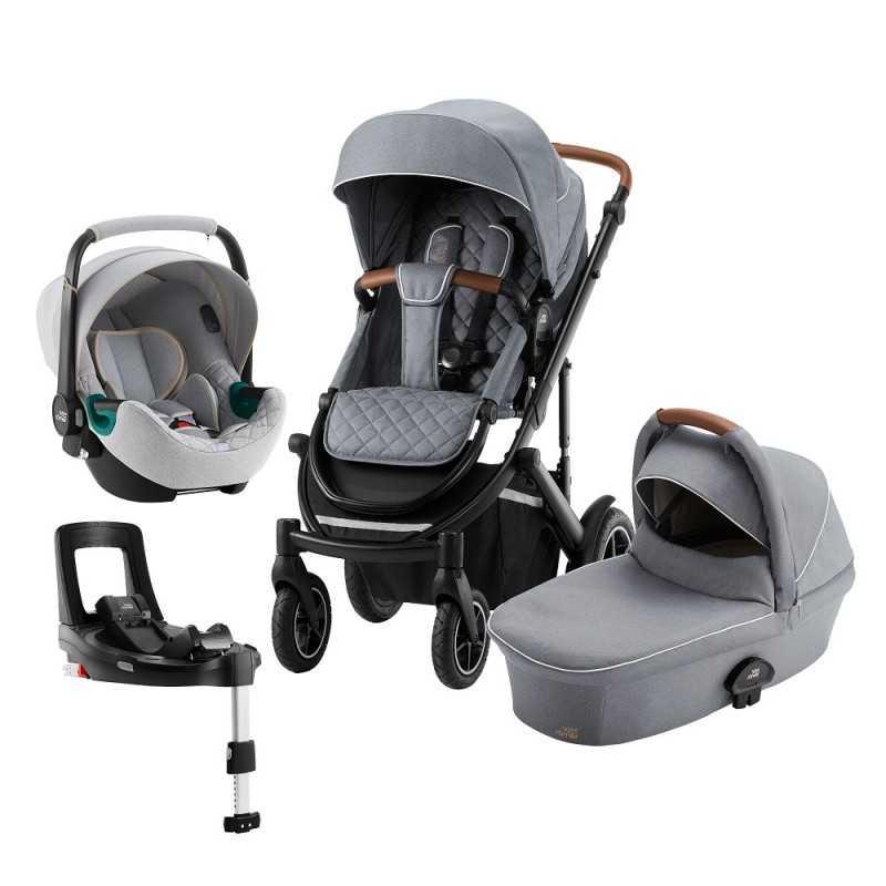 Paketti Britax Smile 3 Yhdistelmävaunu, Nordic Grey + Baby Safe iSENSE Nordic Grey + iSENSE jalusta Britax - 8