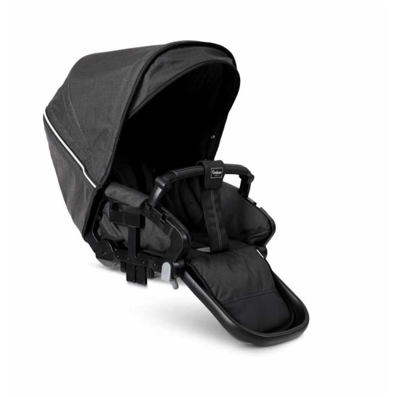 Paketti Emmaljunga NXT90F Select 3.0 yhdistelmävaunu Silver, Lounge Black Emmaljunga - 3