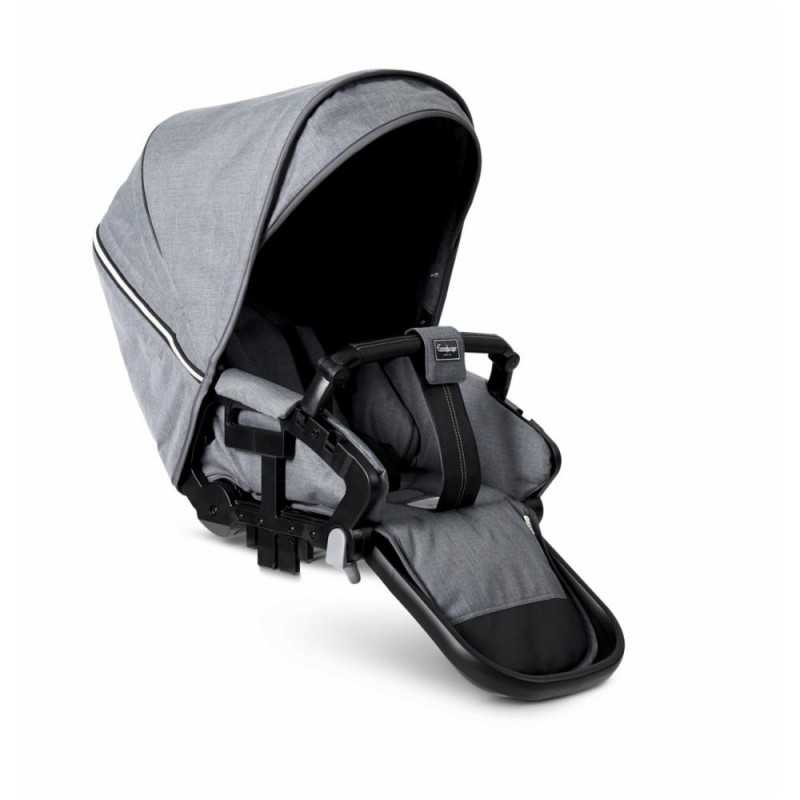 Paketti Emmaljunga NXT90F Select 3.0 yhdistelmävaunu Silver, Lounge Grey Emmaljunga - 4