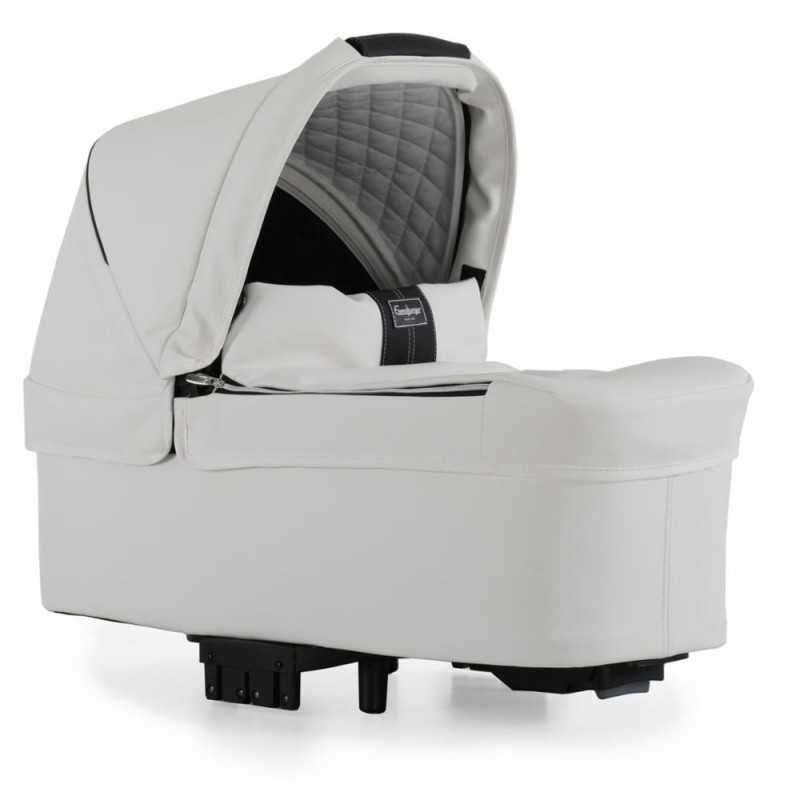 Paketti Emmaljunga NXT90F Select 3.0 yhdistelmävaunu Silver, Lounge L. White Emmaljunga - 3