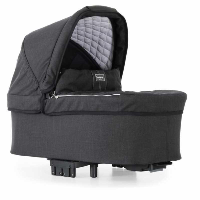 Paketti Emmaljunga NXT90F Select 3.0 yhdistelmävaunu Black, Lounge Black Emmaljunga - 1