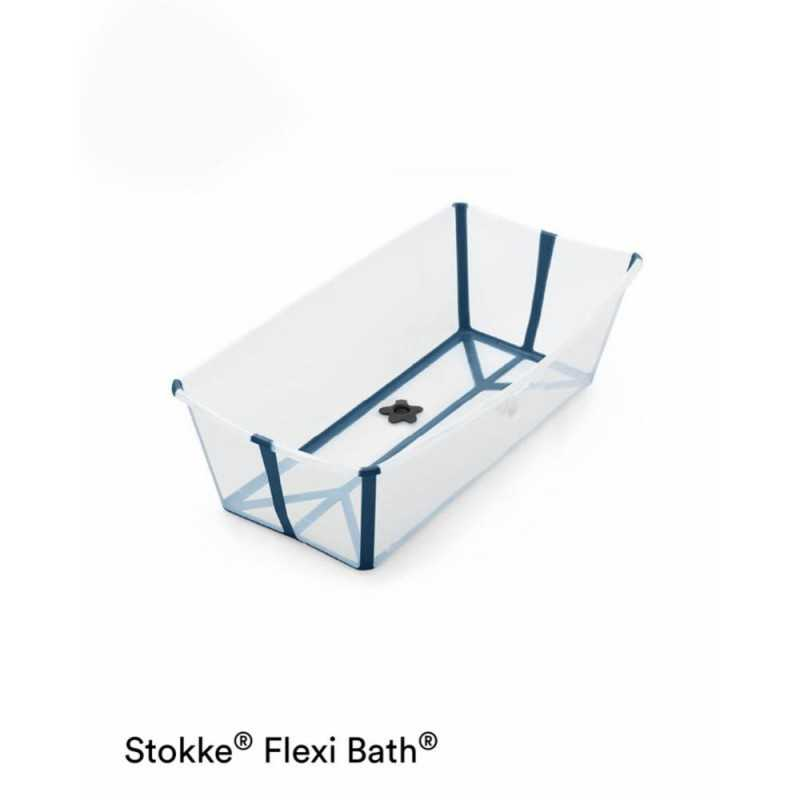 Stokke Flexi Bath Larg, Taitettava amme, Transparent blue Stokke - 1