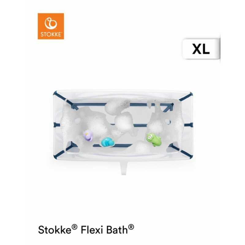 Stokke Flexi Bath Larg, Taitettava amme, Transparent blue Stokke - 2