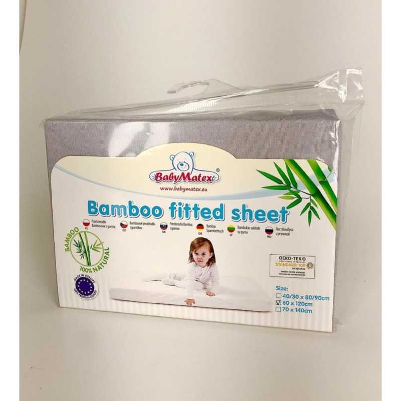 BabyMatex Bambu Lakana 60*120cm, Harmaa BabyMatex - 3