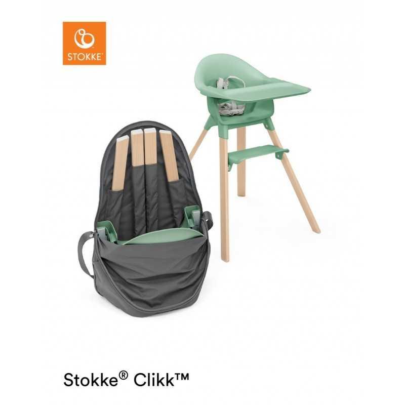 Paketti Stokke Clikk syöttötuoli Clover green + Stokke Clikk Travel bag Stokke - 3