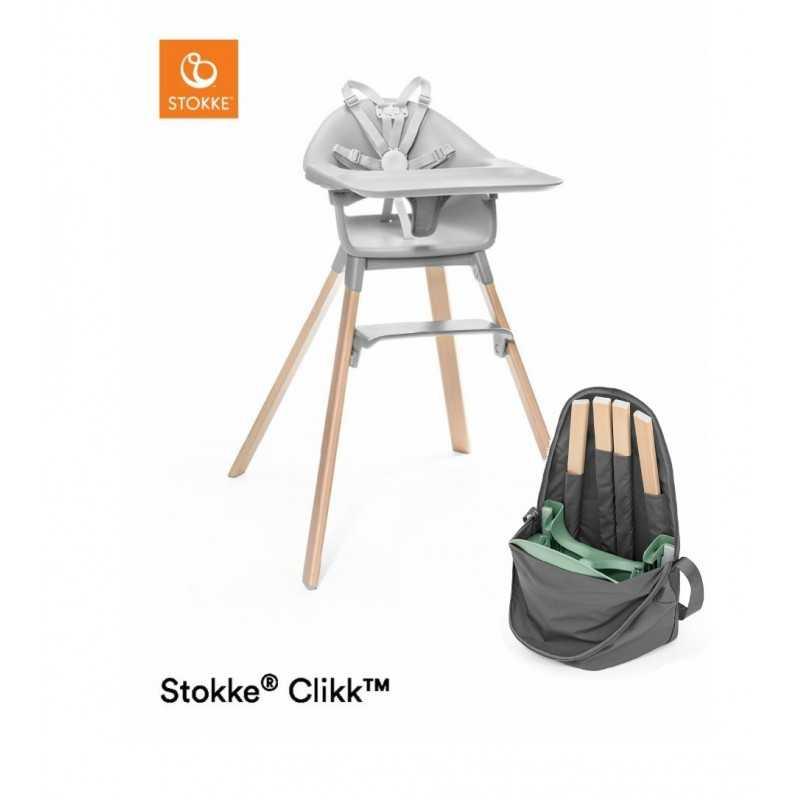 Paketti Stokke Clikk syöttötuoli Grey + Stokke Clikk Travel bag Stokke - 3
