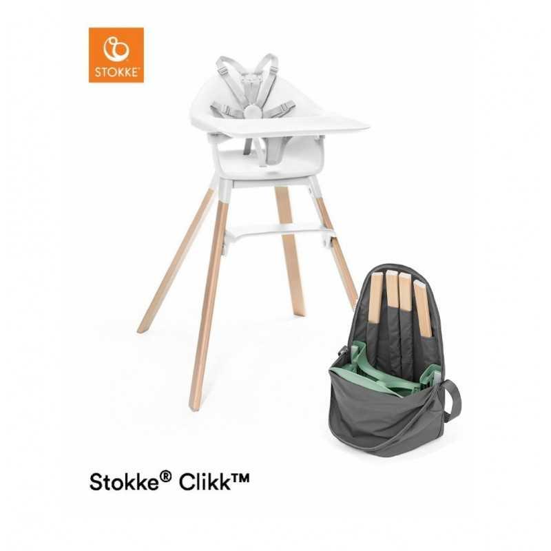 Paketti Stokke Clikk syöttötuoli Valkoinen + Stokke Clikk Travel Bag Stokke - 3